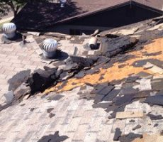 asphalt roof replacement