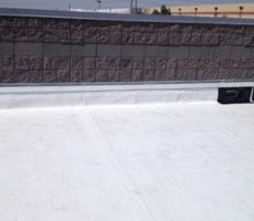 commercial white roof flat