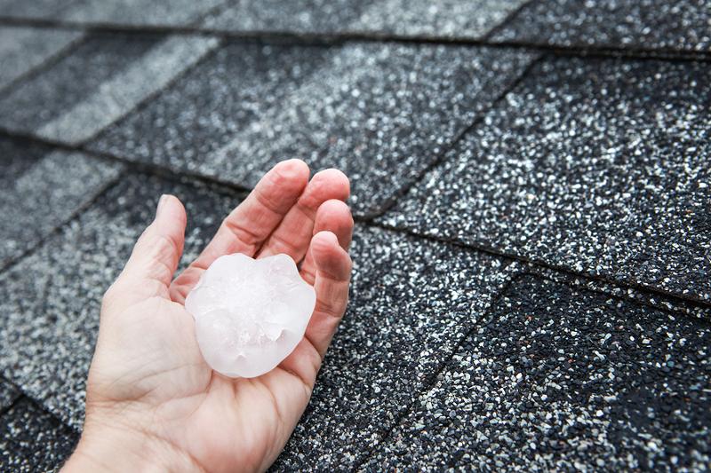 Hail damage roof Flagstaff