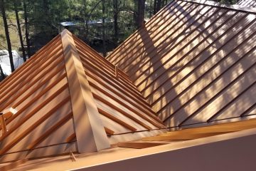 copper color metal roof