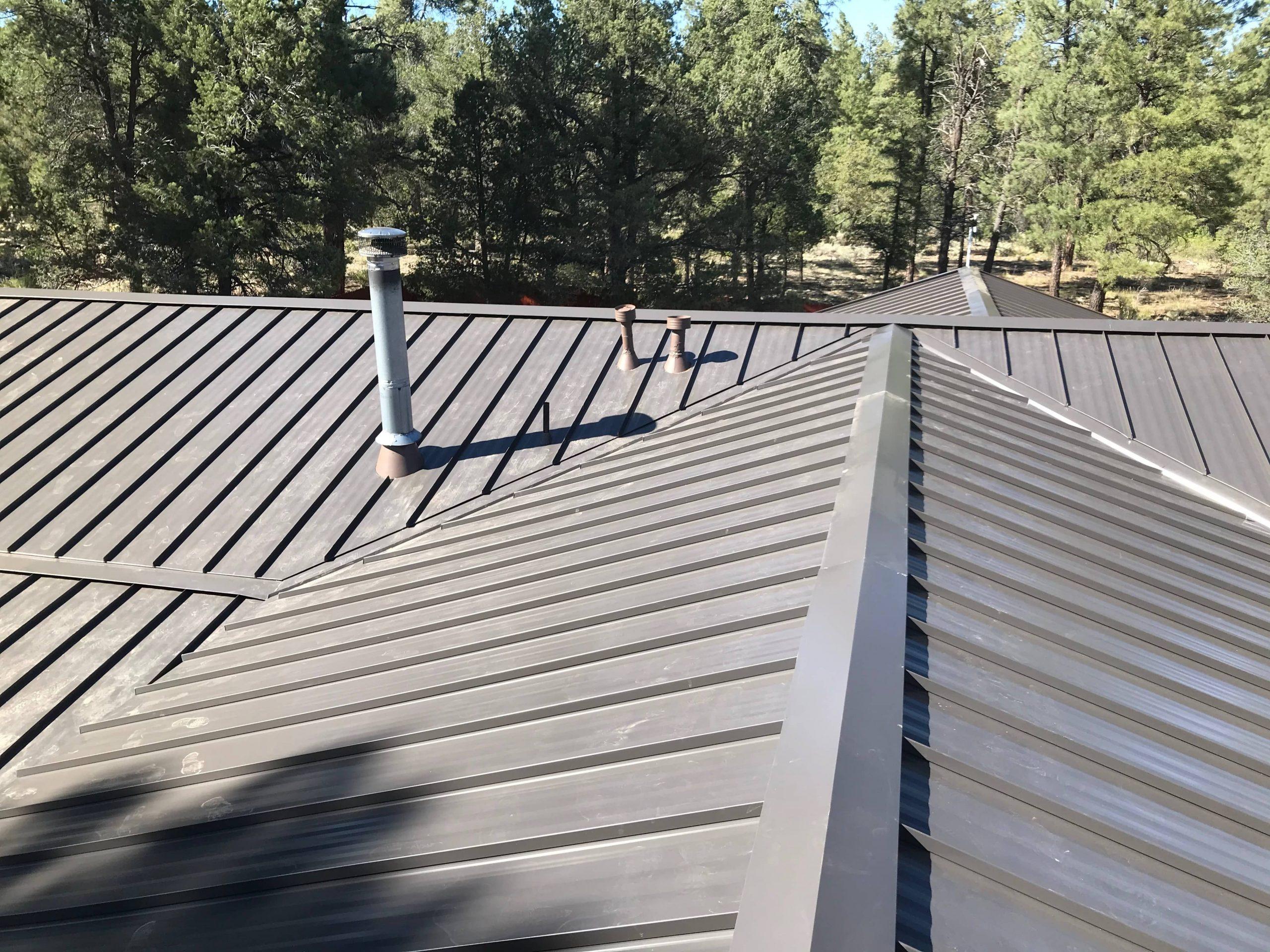 dark metal roof